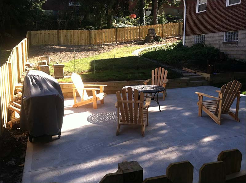 Wooden Fencen and new patio