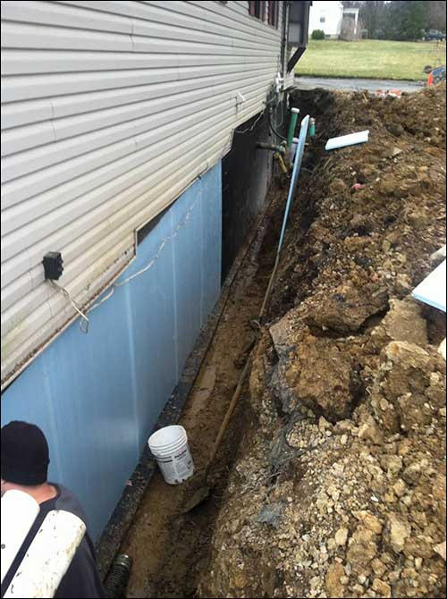 french drains around house foundation best drain photos primagem org rh primagem org Drainage Solutions around House French Drains How They Work